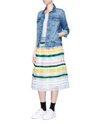 MUVEIL - Multicolor Ribbon Stripe Chiffon Pleat Skirt - Lyst
