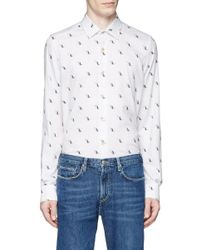 Paul Smith - Multicolor Dinosaur Fil Coupé Twill Shirt for Men - Lyst