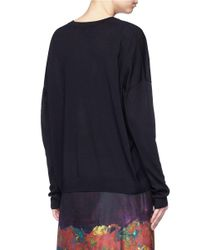 Acne | Black 'challa' Merino Wool Sweater | Lyst