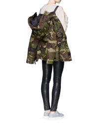 Canada Goose - Green 'rideau' Camouflage Print Down Parka - Lyst