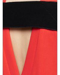 Rag & Bone - Red 'phoebe' Crepe Shift Dress - Lyst