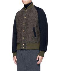 Kolor - Gray Wool Bouclé Varsity Jacket for Men - Lyst