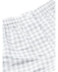 Araks - Blue 'tia' Gingham Check Organic Cotton Boxer Shorts - Lyst