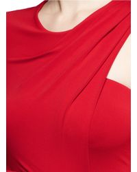 Alexander Wang - Red Asymmetric Drape One-shoulder Crepe Gown - Lyst