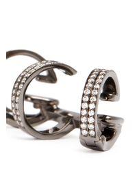 Repossi - 'berbre' Diamond Black Gold 3-hoop Ear Cuff - Lyst