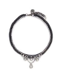Venessa Arizaga - Black 'sunshine Reggae' Rhinestone Necklace - Lyst