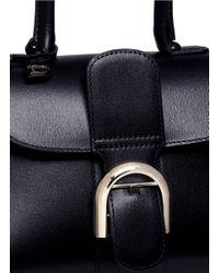 Delvaux - Black 'brillant Mini' Box Calf Leather Bag - Lyst