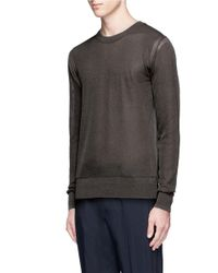 Wooyoungmi - Gray Sheer Cotton Blend Sweater for Men - Lyst