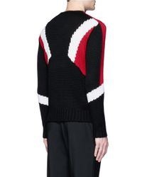 Neil Barrett - Black 'retro Modernist' Intarsia Wool Sweater for Men - Lyst