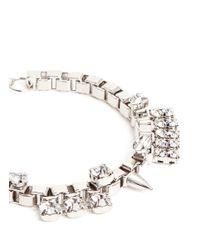 Joomi Lim - Metallic 'organized Chaos' Swarovski Crystal Box Chain Bracelet - Lyst