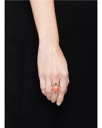 Anabela Chan - Pink 'opals Nereides' Diamond Pavé Gemstone Ring - Lyst