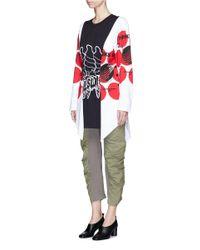 Stella McCartney - Multicolor 'aurelia' Mixed Slogan Print Colourblock Top - Lyst