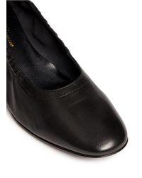 Robert Clergerie - Black 'poket' Wood Effect Heel Lambskin Leather Pumps - Lyst