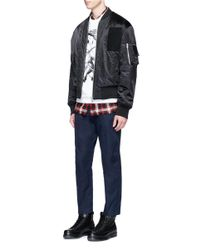 DSquared² - Blue Shirred Waist Cotton Twill Pants for Men - Lyst