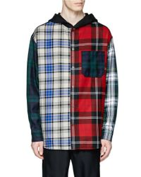 Alexander Wang | Multicolor Mixed Check Plaid Hooded Shirt for Men | Lyst