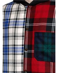 Alexander Wang - Multicolor Mixed Check Plaid Hooded Shirt for Men - Lyst