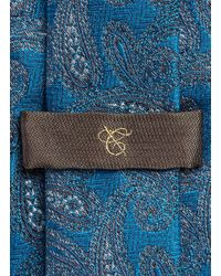 Canali - Blue Paisley Jacquard Silk Tie for Men - Lyst