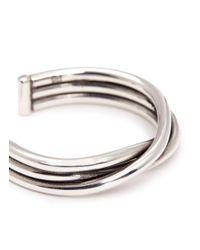 Philippe Audibert | Metallic 'alicia' Twisted Coil Open Ring | Lyst