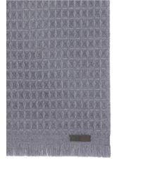 Armani - Gray Textured Check Wool Scarf for Men - Lyst