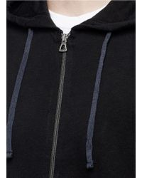 James Perse - Black Vintage Fleece Zip Hoodie for Men - Lyst