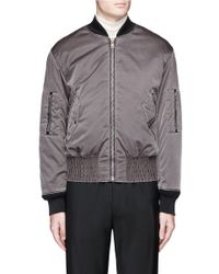 Maison Margiela - Gray Overdye Padded Nylon Bomber Jacket for Men - Lyst