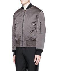 Maison Margiela - Gray Overdye Padded Nylon Bomber Jacket for Men - Lyst