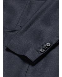 Maison Margiela - Blue Patch Pocket Wool Blazer for Men - Lyst