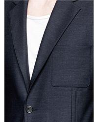 Maison Margiela - Blue Patch Pocket Wool Blazer for Men - Lyst