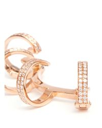 Repossi - Metallic 'berbère' Diamond Rose Gold 4-hoop Ear Cuff - Lyst