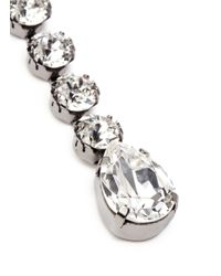 Venessa Arizaga - White 'eiko' Rhinestone Asymmetric Earrings - Lyst