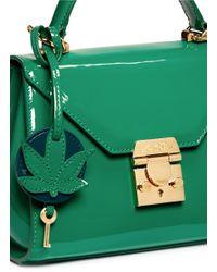 Mark Cross | Green 'hadley Baby Flap' Brush Off Leather Bag | Lyst