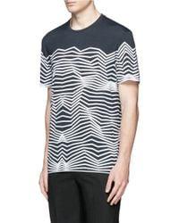 Neil Barrett - Blue Nautical Stripe Print T-shirt for Men - Lyst