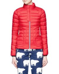 Perfect Moment - Red Mini Duvet Quilted Down Ski Jacket - Lyst