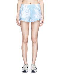 The Upside - Blue 'lilium Lima' Print Running Shorts - Lyst