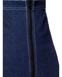 ShuShu/Tong - Blue High Waist Cotton Denim Skirt - Lyst