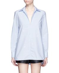 Alexander Wang | Blue Bleached Effect Cotton Tunic | Lyst
