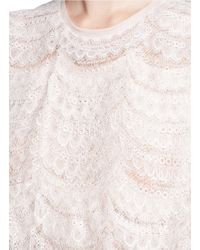 Givenchy - Pink Layered Lace Belted Sleeveless Dress - Lyst