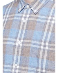 TOPMAN - Multicolor Washed Check Plaid Shirt for Men - Lyst