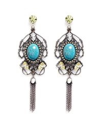 Anton Heunis | Multicolor Swarovski Crystal Vintage Stone Chandelier Earrings | Lyst