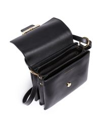 Alexander McQueen - Black Twin Skull Leather Satchel - Lyst
