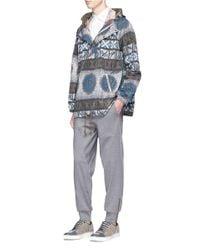 Kolor - Gray Print Waist Cotton Jogging Pants for Men - Lyst