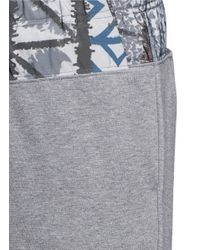 Kolor   Gray Print Waist Cotton Jogging Pants for Men   Lyst