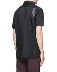 Lanvin - Black Curve Embroidery Cotton-silk Shirt for Men - Lyst