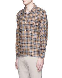 Camoshita - Multicolor Textured Check Plaid Shirt for Men - Lyst