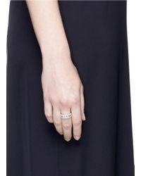 Messika - Multicolor 'move Paveé' Diamond 18k White Gold Ring - Lyst