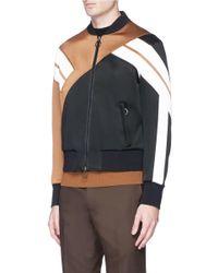Neil Barrett - Black 'retro Modernist' Panel Bomber Jacket for Men - Lyst