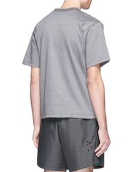 Kolor - Gray Rib Neck Cotton T-shirt for Men - Lyst
