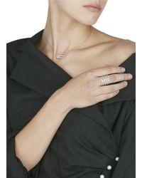 Messika | Metallic 'baby Move Pavé' Diamond 18k White Gold Necklace | Lyst