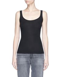 Vince | Black Pima Cotton-modal Tank Top | Lyst