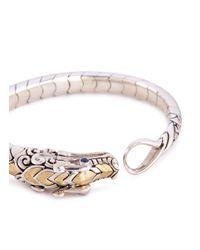 John Hardy - Metallic Sapphire Spinel 18k Yellow Gold Silver Naga Bracelet - Lyst